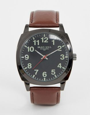 Brave Soul mens watch with brown strap