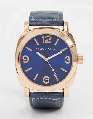 Brave Soul mens watch with navy strap and dial