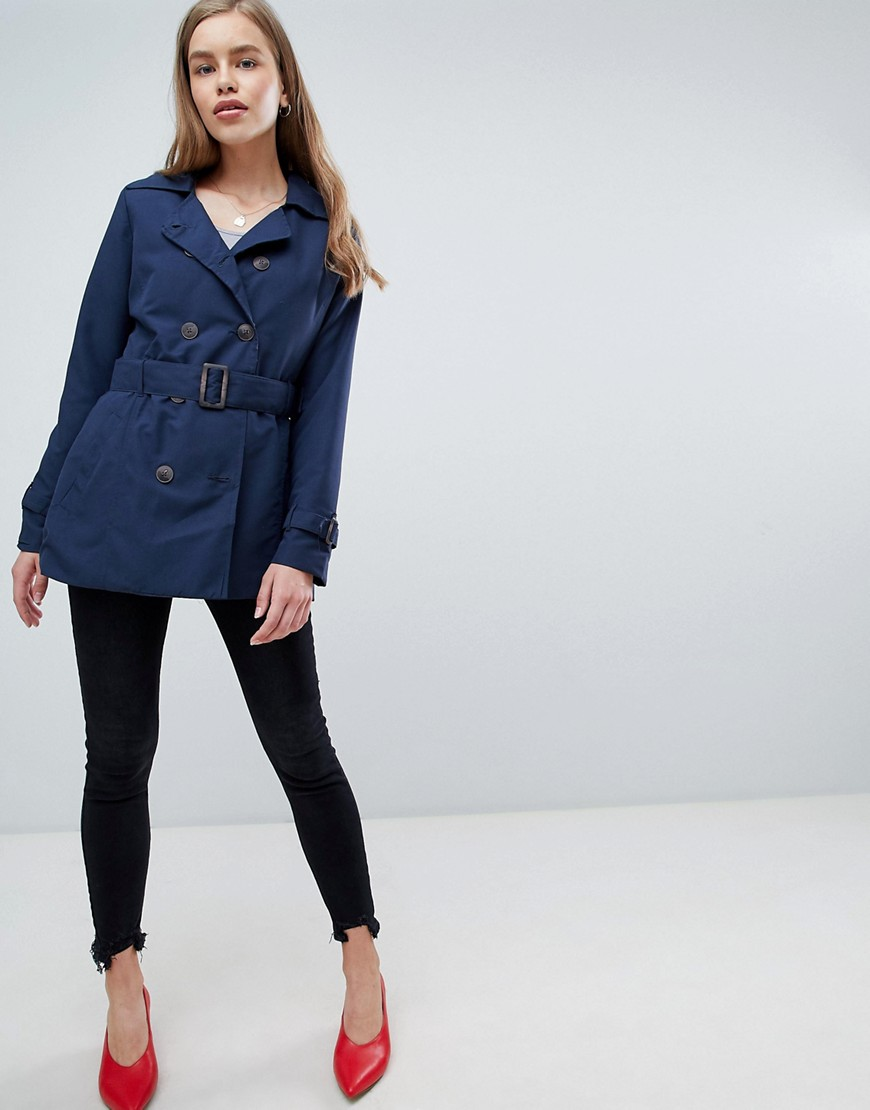 Brave Soul Orwell Double Breasted Trench by Asos Brand
