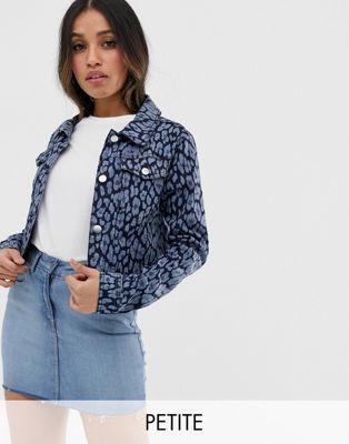 Image 1 of Brave Soul Petite floral denim jacket