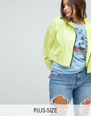Image 1 of Brave Soul Plus Jade Crop Rain Mac