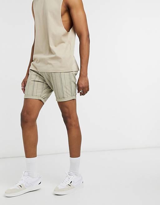 Brave Soul - Shorts med løbesnor og striber