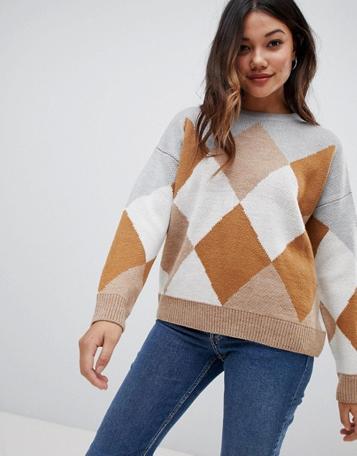 Brave Soul – Sweter ze wzorem wromby