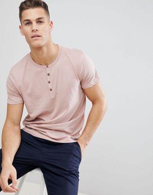 Immagine 1 di Brave Soul - T-shirt con collo serafino e abbottonatura a contrasto