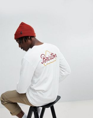 Brixton Newbury Long Sleeve T-Shirt With Triangle Back Print