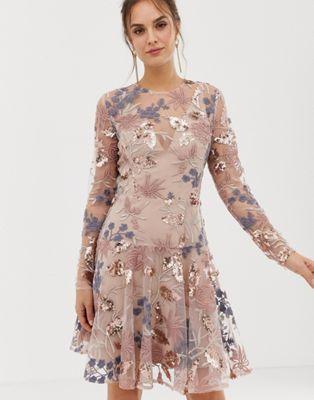 Bronx and Banco - Aurora - Versierde mini-jurk