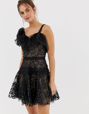 Image 1 of Bronx and Banco Layla ruffle mini dress