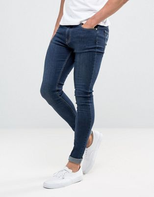Image 1 of Brooklyn Supply Co muscle fit jeans deep indigo