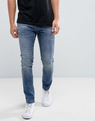 Brooklyns Own – Mellanblå super skinny jeans
