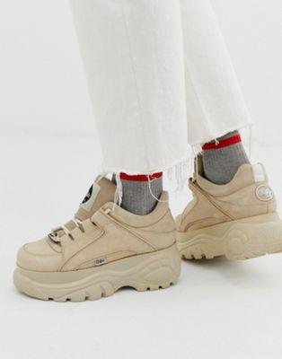 Bild 1 von Buffalo – Klassische Sneaker in Stone mit robuster Sohle