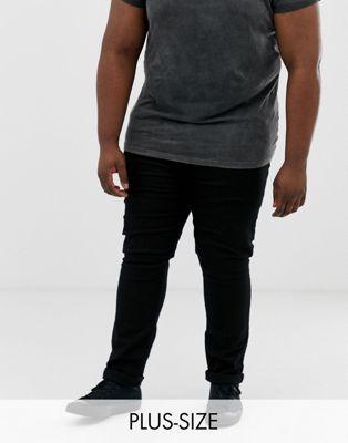 Burton Menswear - Big & Tall - Jeans met smaltoelopende pijpen in zwart