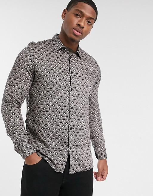 Burton Menswear - Camicia con stampa geometrica