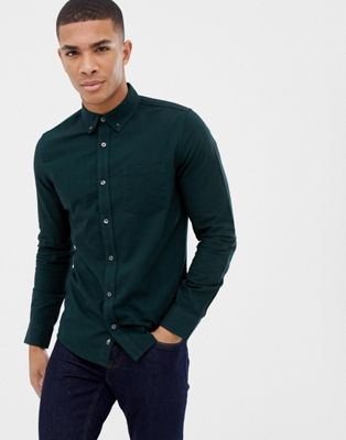 Burton Menswear – Grünes Oxford-Hemd