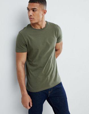 Bild 1 av Burton Menswear – Kakifärgad t-shirt med normal passform