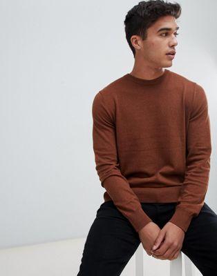 Bild 1 av Burton Menswear Kamelfärgad tröja med rund halsringning