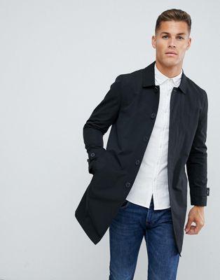 Image 1 of Burton Menswear mac in black