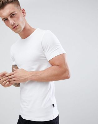 Burton Menswear Muscle Fit T-Shirt In White
