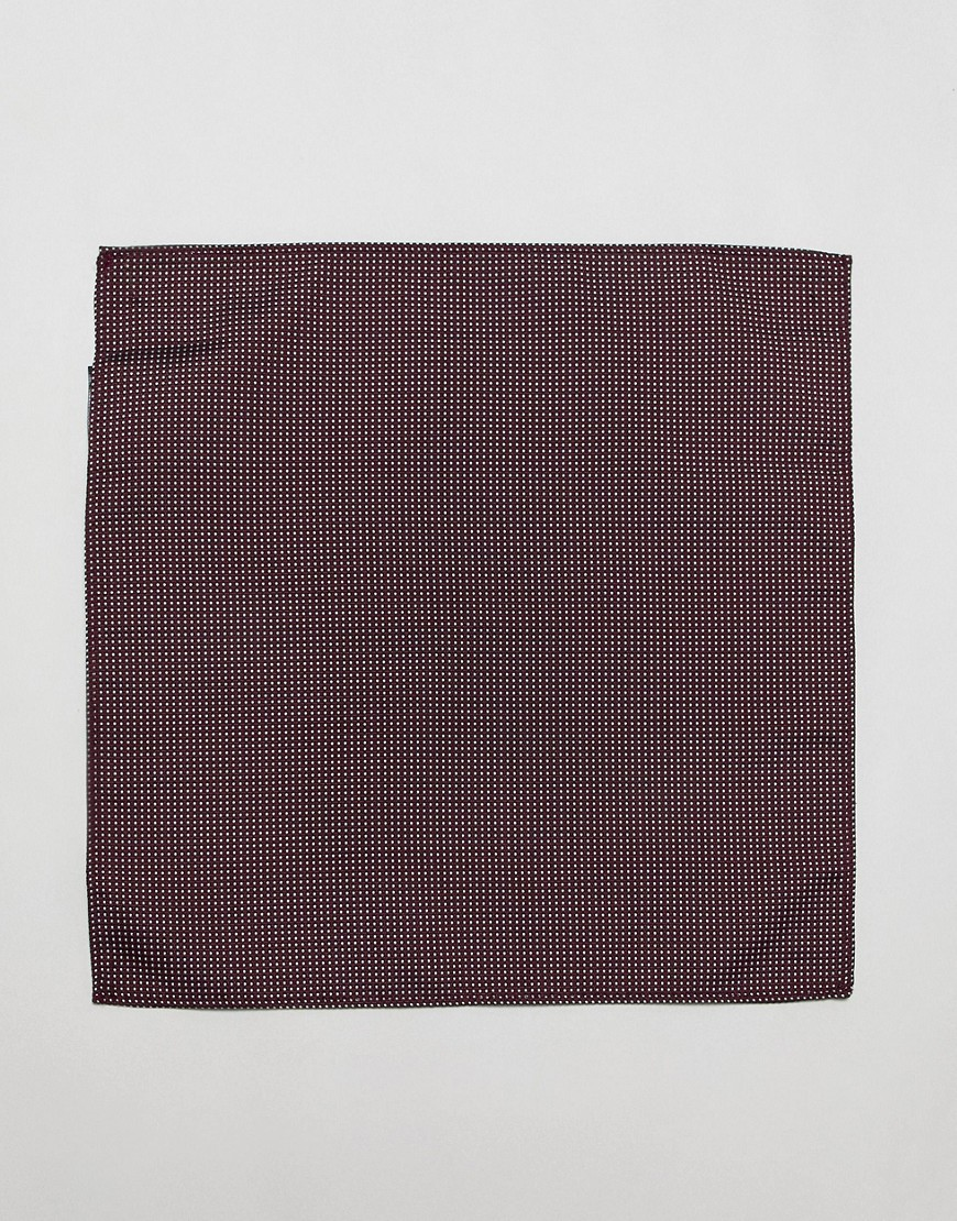 Burton Menswear Party Tie And Pocket Square Set With Dot Print In Burgundy by Burton Menswear London