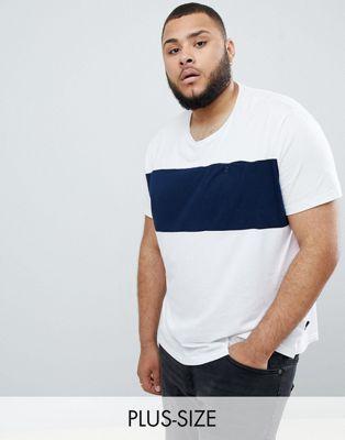 Burton Menswear PLUS t-shirt in navy and white stripe