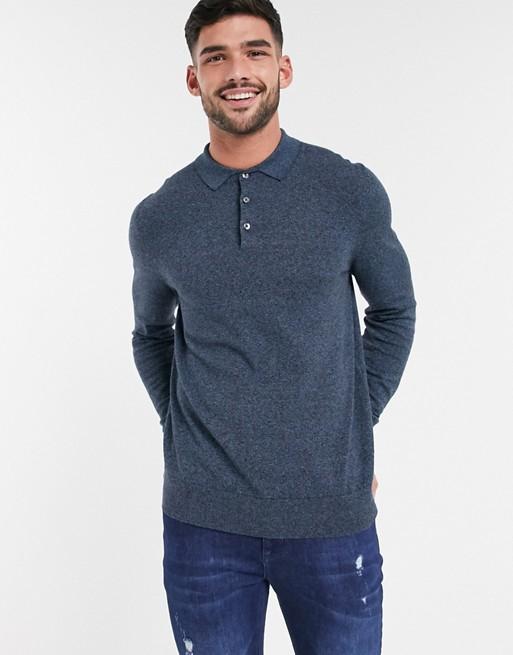 Burton Menswear - Polo di jeans blu