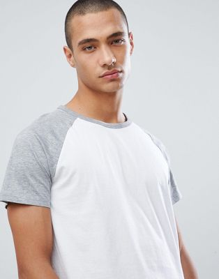 Burton Menswear Raglan T-Shirt In Grey