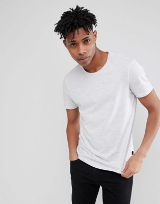 Burton Menswear Regular Fit T-Shirt In Grey Marl