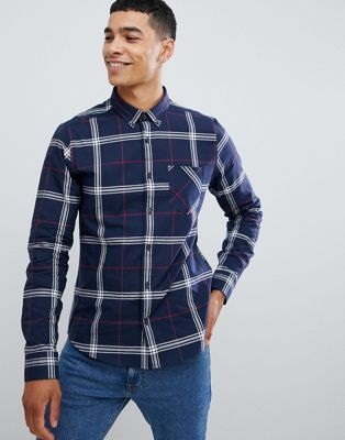 Burton Menswear shirt in navy check