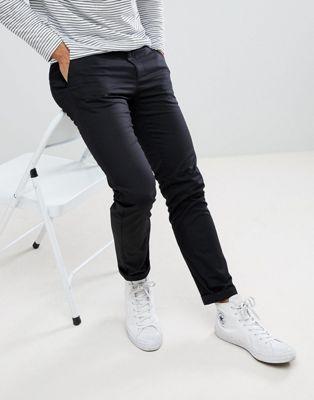 Burton Menswear Skinny Chinos In Black