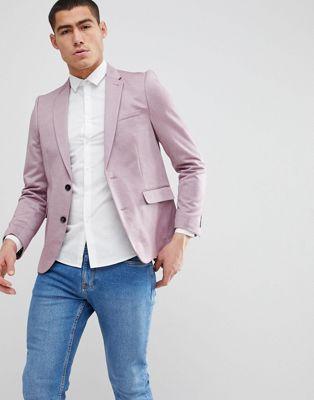Burton Menswear - Smalle blazer in roze