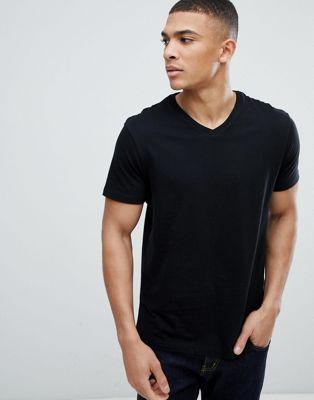 Bild 1 av Burton Menswear – Svart v-ringad t-shirt