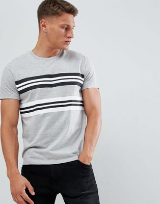 Burton Menswear t-shirt in grey stripe