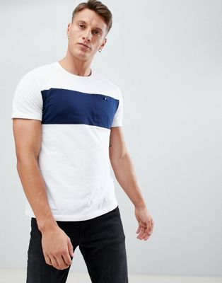 Burton Menswear t-shirt with pocket in white