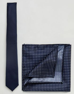 Burton Menswear Tie Set In Navy