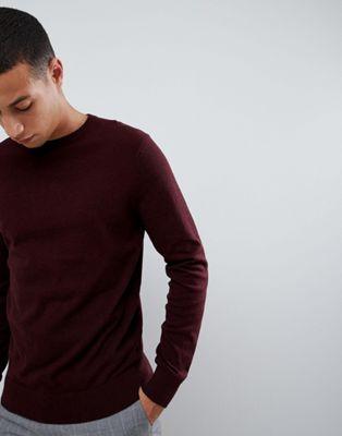 Burton Menswear - Trui  in bordeauxrood