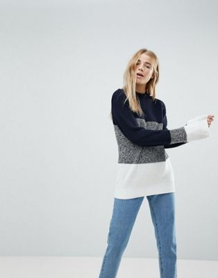 Image 1 of b.Young Color Block Sweater