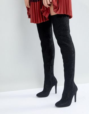 Call It Spring Black Over the Knee Boots