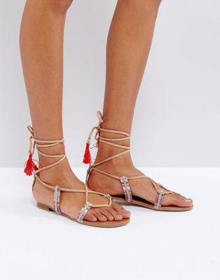 Call It Spring Grallan Flat Tassel Sandals