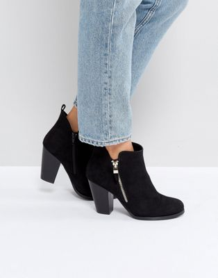 Call It Spring Kokes Black Heeled Ankle Boots
