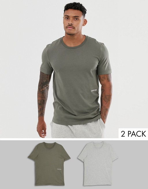 Calvin Klein — 2 pary T-shirtów z logo 1981