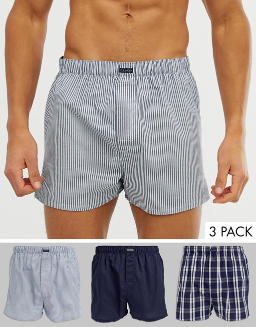 Calvin Klein 3 pack woven boxers