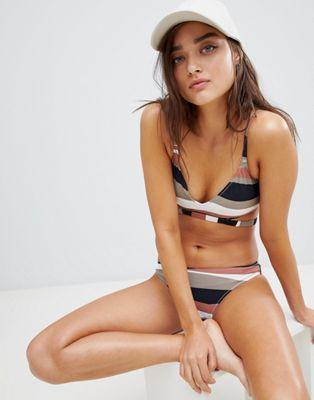Image 1 sur Calvin Klein - Desert - Haut de bikini triangle à rayures