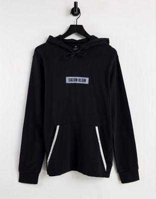 Calvin Klein reflective box logo hoodie in ck black - ASOS Price Checker