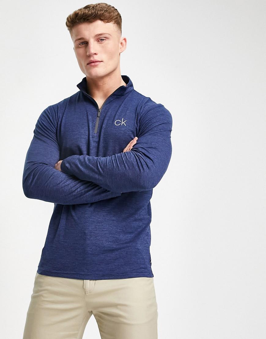 Calvin Klein Golf - Newport - Marineblå top med halv lynlås