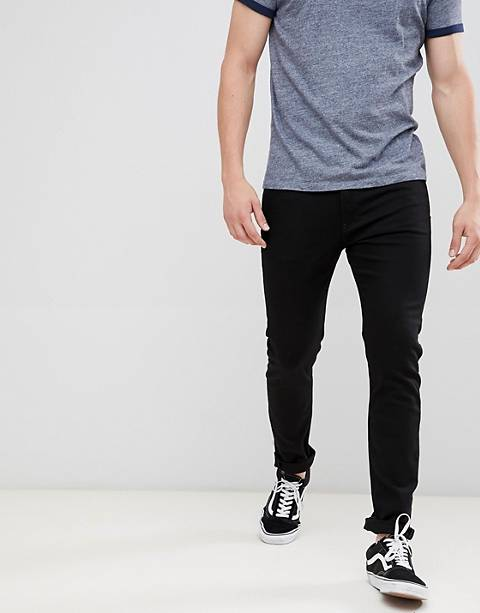 Calvin Klein Jeans stay black skinny jeans with logo back patch