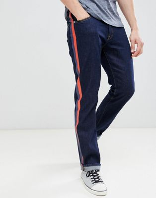 Calvin Klein Jeans straight jeans with side stripes