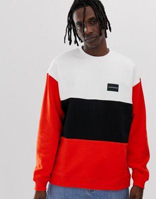 Calvin Klein Jeans - Sweatshirt met kleurvlakken en ronde hals