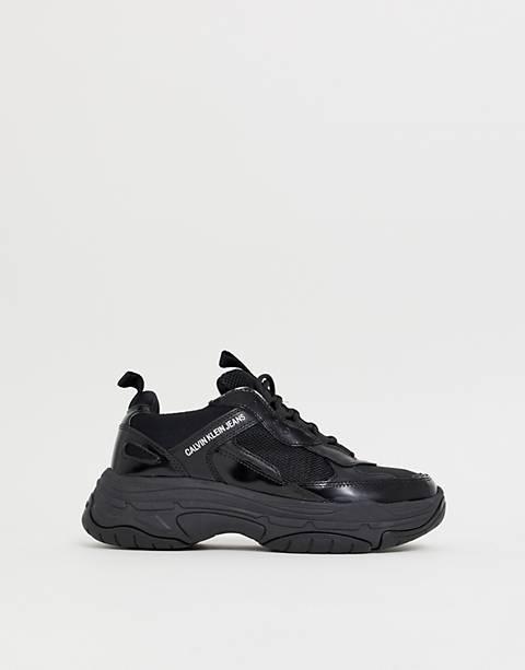 Calvin Klein Marvin chunky sneakers in black