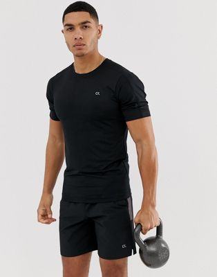 Image 1 of Calvin Klein Performance mesh back t-shirt with reflective details in black