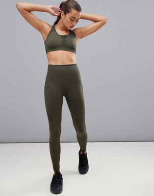 Calvin Klein - Performance - Naadloze legging in groen