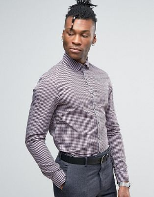 Calvin Klein Slim Fit Gingham Checked Shirt